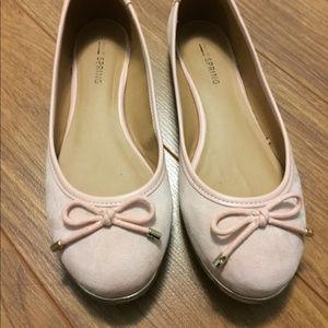 Call It Spring Gold Trim Ballerina Flats